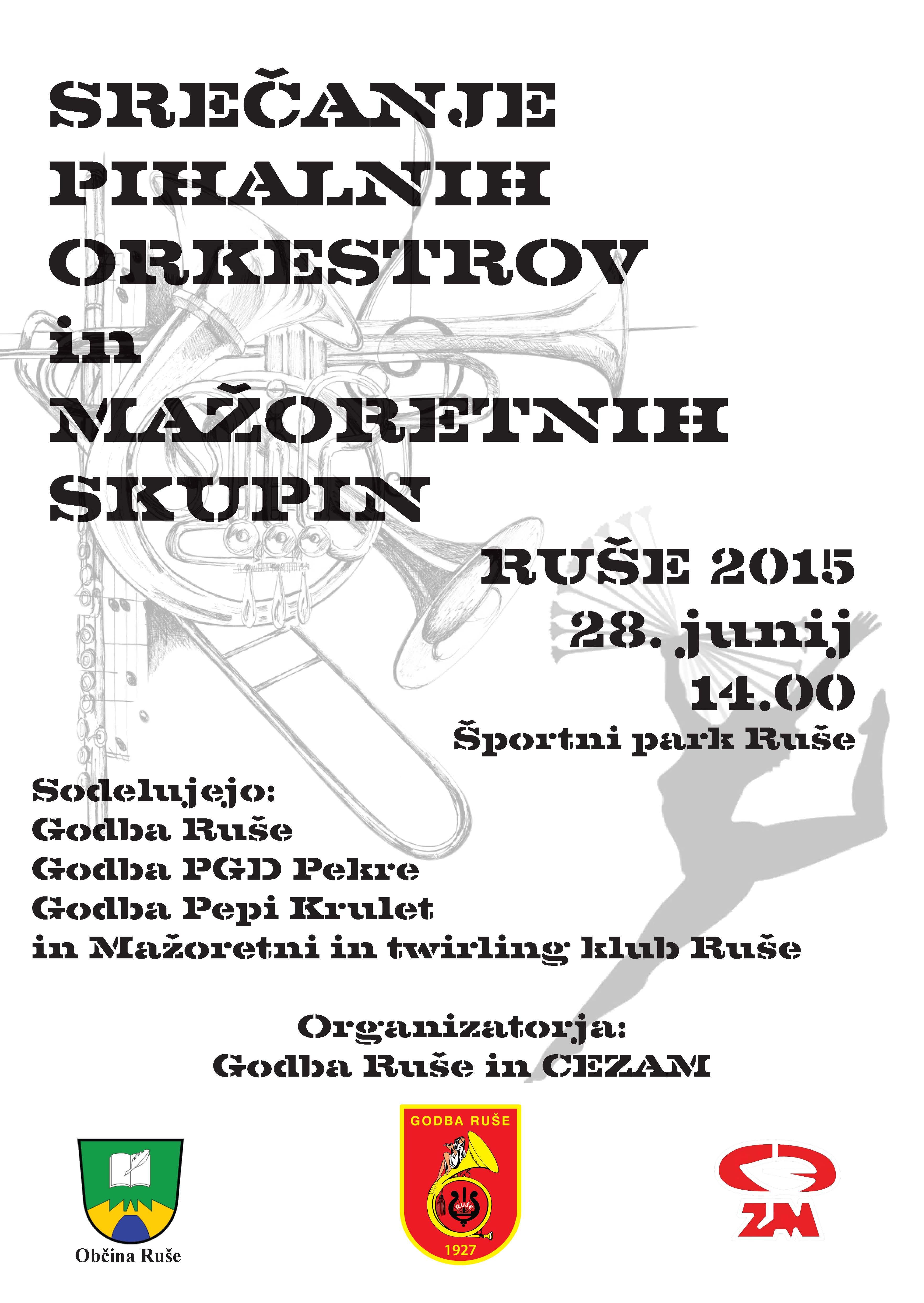 plakat srecanje godb ruse 2015